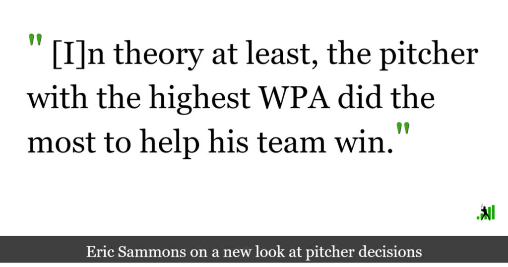 Introducing WPA-Win: A Better Pitcher Decision Statistic