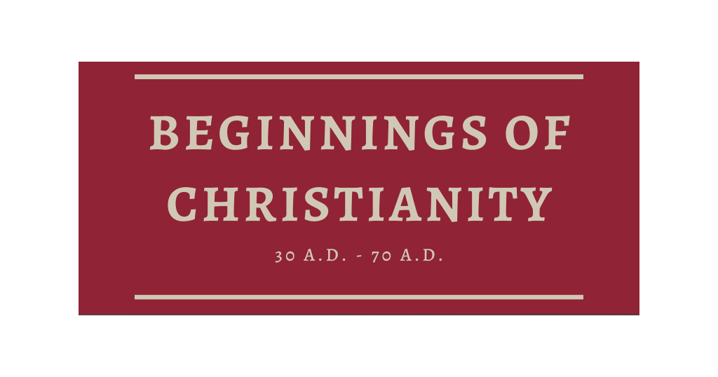 Beginnings of Christianity Timeline